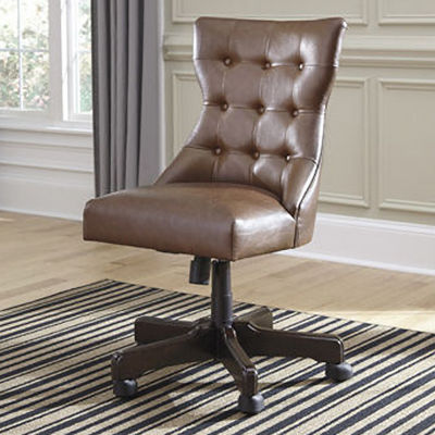 jcpenney desk chair upholstered rocking signature design by ashley button tufted faux leather home office swivel