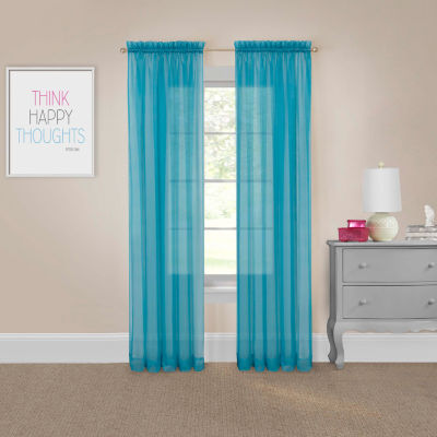 pairs to go victoria voile sheer rod pocket set of 2 curtain panel jcpenney