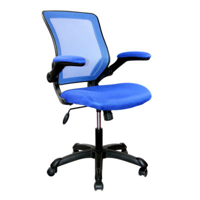 jcpenney desk chair beach umbrella for techni mobili mesh task with flip up arms office