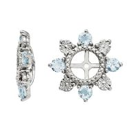 Genuine Aquamarine Sterling Silver Earring Jackets | Shop ...