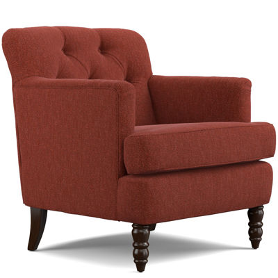 tufted accent chairs ikea leather chair elm sangria red jcpenney