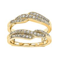 Diamond+insert+or+guard+ring+v+bands+yellow+gold+1/3+ctw ...