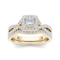 1 CT. T.W. Diamond 14K Yellow Gold Bridal Ring Set - JCPenney