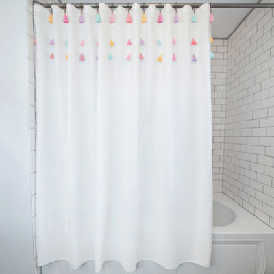 frank and lulu tassel 13 pc shower curtain set