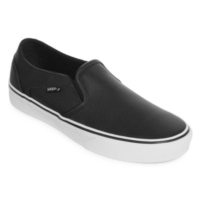 Leather Sneakers Womens Slip On