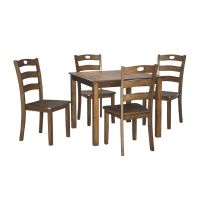 Signature Design by Ashley Hazelteen 5-Piece Square Table ...