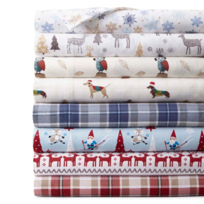 JCPenney Home Print Flannel Sheet Set JCPenney