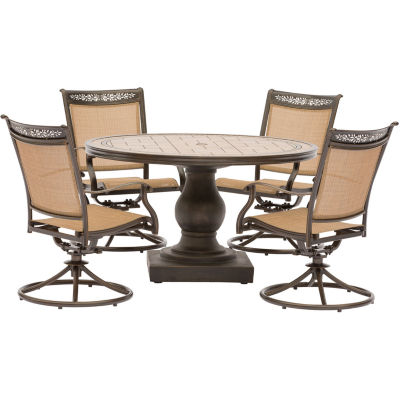table with swivel chairs poul jensen z chair replica hanover sling 51 5 pc patio dining set jcpenney