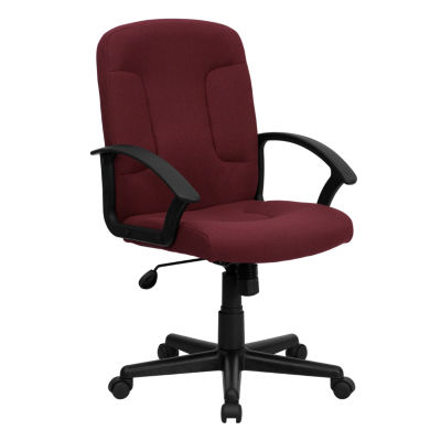 jcpenney desk chair ladder back upholstered contemporary office mid fabric executive swivel with nylonarms