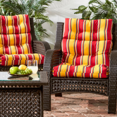 high back lawn chair cushions sunchaser floating lounge outdoor set of 2 cushion jcpenney
