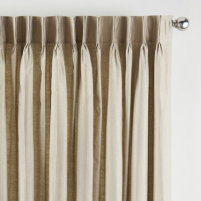 jcpenney home supreme energy saving light filtering pinch pleat single patio door curtain