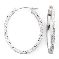 14K White Gold Hoop Earrings - JCPenney