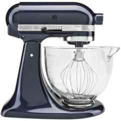 Kitchen Aid Glass Bowl White Marble Table Kitchenaid Artisan Design Series 5 Quart Tilt Head Stand Mixer With
