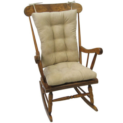 rocking chair pad sets lightweight beach chairs uk klear vu twillo xl 2 pc rocker cushion set jcpenney