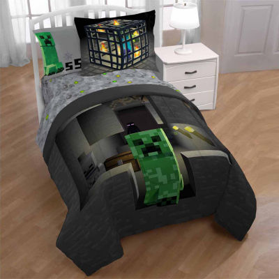 Minecraft 2 pc TwinFull Reversible Comforter Set JCPenney