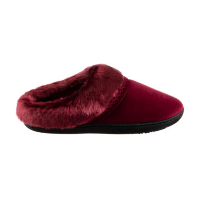 also isotoner velour hoodback slippers with memory foam jcpenney rh