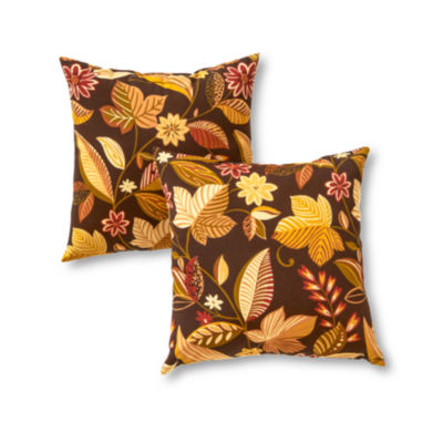 greendale home fashions square outdoor accent pillows set of 2 jcpenney