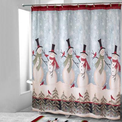 avanti tall snowman shower curtain