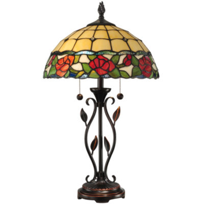Dale Tiffany Rose Buds Table Lamp High Quality Hand