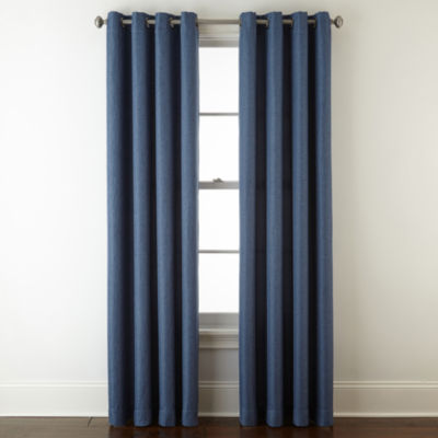 jcpenney home pasadena blackout grommet top single curtain panel