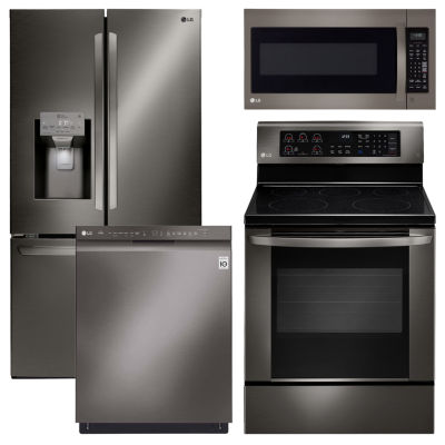 kitchen package how much does a sink cost lg lfxs26973d 4 pc electric jcpenney