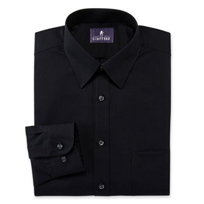 also stafford performance wrinkle free broadcloth dress shirt rh jcpenney