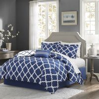 Madison Park Essentials Cole Complete Bedding Set with ...