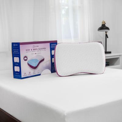 sensorpedic side to back contour memory foam pillow