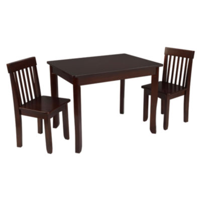 kidkraft avalon chair unfinished oak chairs table ii 2 set jcpenney