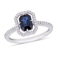 Modern Bride Gemstone Womens 1/4 CT. T.W. Genuine Blue ...