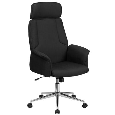 jcpenney desk chair custom throne high back fabric executive swivel with chrome base and fully upholstered arms