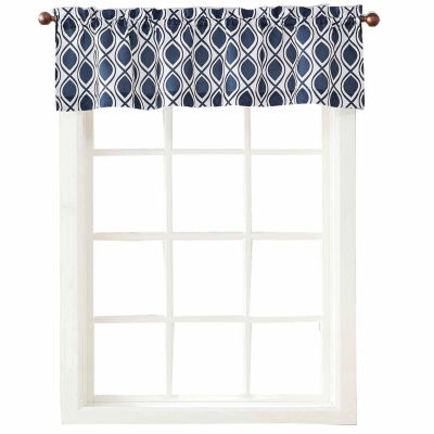 kitchen valance pot lights for cullen rod pocket jcpenney