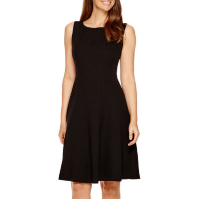 also black label by evan picone sleeveless fit  flare dress jcpenney rh