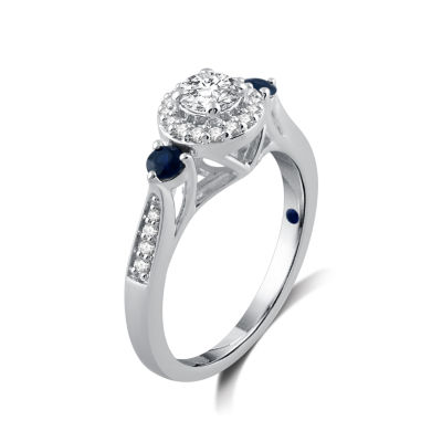 I Said Yes Womens 1/2 CT. T.W. Round White Diamond