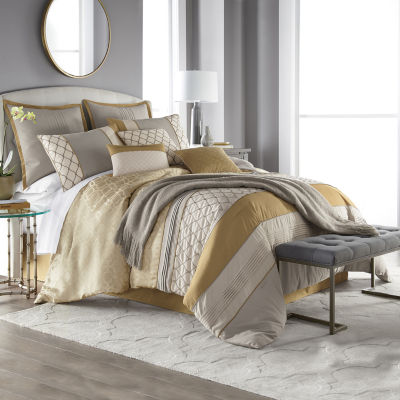 jcpenney home carissa 10 pc jacquard embroidered comforter set