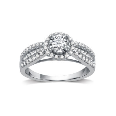 I Said Yes Womens 3/4 CT. T.W. Genuine Round White Diamond