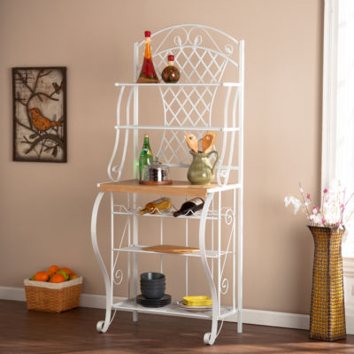 kitchen bakers rack countertop cost wooden door jcpenney