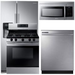Samsung Kitchen Package Modular Rs25j500dsg Aa 4 Pc Gas Stainless Steel