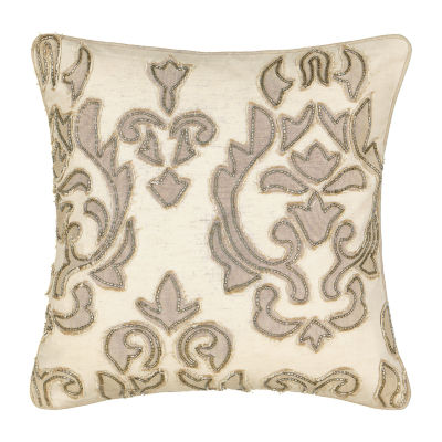waverly volterra 16x16 decorative square throw pillow color natural jcpenney