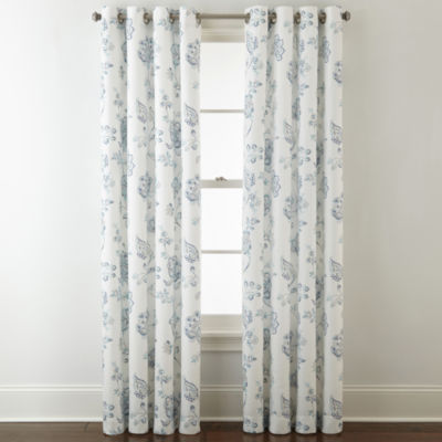 JCPenney Home Quinn Jacobean GrommetTop Curtain Panel