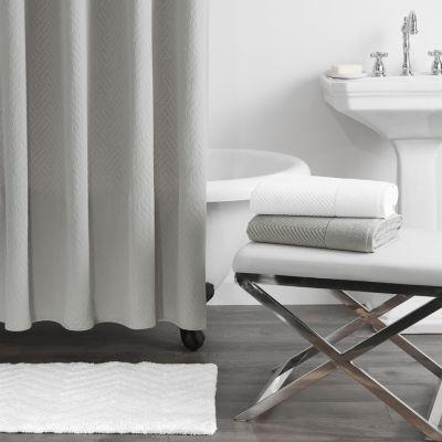 fieldcrest luxury basketweave matelasse shower curtain