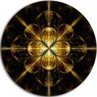 Designart Gold Symmetrical Large Fractal Flower Floral ...