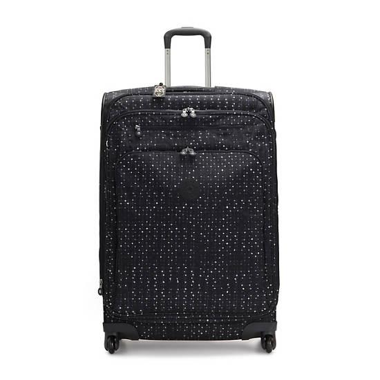 large printed rolling luggage