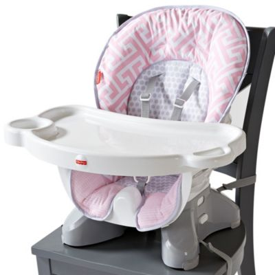 rainforest spacesaver high chair logo inc chairs, baby boosters & portable booster seats | fisher-price