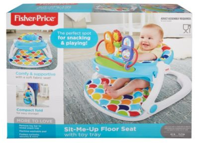 fisher price sit and play chair folding me up floor seat with toy tray