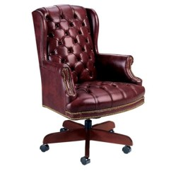 Traditional Leather Wingback Chair With Cooler Tufted Wing Back Desk From High Point Furniture 4078 Nationalbusinessfurniture Com