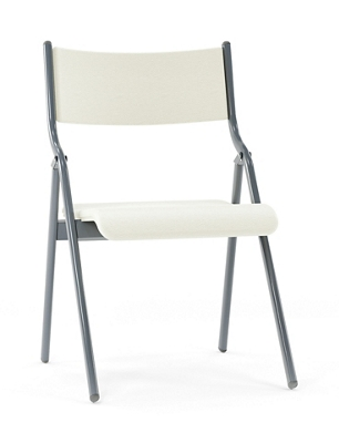 steel vinyl chair homechoice covers metal folding with seat and back 18w 220285 more lifetime guarantee