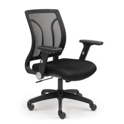 Mesh Back Chairs For Office Brown Jordan Nbf Series Chair W Flip Arms Memory Foam Com