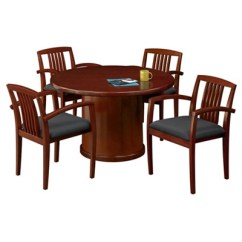 Conference Tables And Chairs Dining Table Ireland Chair Sets National Business Furniture 48 Round With 4 Side