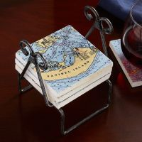 Metal Coaster Holder - National Geographic Store
